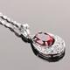 【雅紅珠寶】愛情結晶天然1.5克拉石榴石項鍊