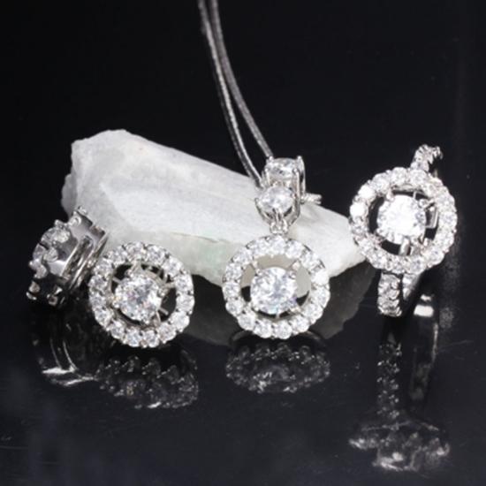 圖片 【雅紅珠寶】愛的環抱晶鑽項鍊套組-昇麗婷之星-八心八箭鋯石