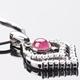 【雅紅珠寶】心心相印天然碧璽墜子-925純銀飾