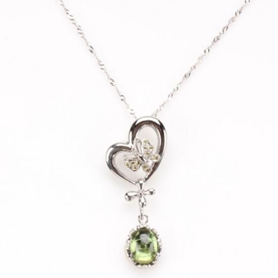 圖片 【雅紅珠寶】綠葉醉桃天然碧璽項鍊