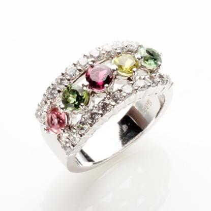圖片 【雅紅珠寶】春和景明天然碧璽戒-925純銀飾