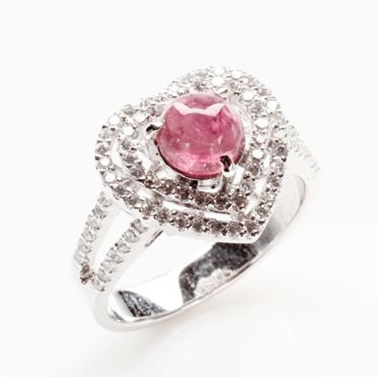 圖片 【雅紅珠寶】心中有你天然碧璽戒-925純銀飾