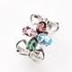 【雅紅珠寶】小巧玲瓏天然水晶戒-925純銀飾