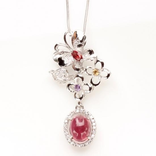 圖片 【雅紅珠寶】絢麗多彩天然碧璽墜子-925純銀飾
