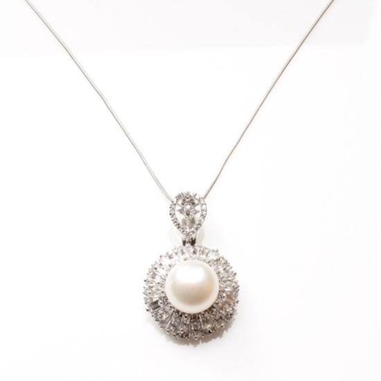 圖片 【雅紅珠寶】高貴優雅天然珍珠項鍊-925銀飾