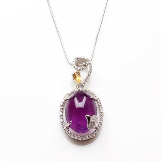 圖片 【雅紅珠寶】露??紫天然紫水晶項鍊-925銀飾