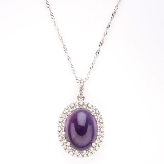 圖片 【雅紅珠寶】萬紅千紫天然紫水晶項鍊-925純銀飾