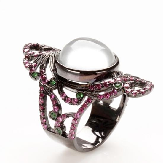 圖片 【雅紅珠寶】綺羅粉黛天然緬甸水沫玉戒-925純銀飾