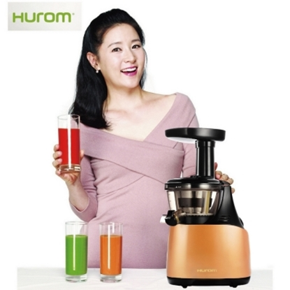 圖片 【HUROM】韓國原裝進口全新慢磨蔬果汁機HB-666G/玫瑰金