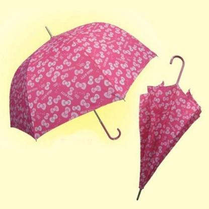 圖片 Hello Kitty★阿波羅直傘/雨傘/陽傘-滿版蝴蝶結