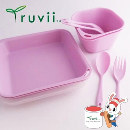 圖片 Truvii 野莓紫抗菌餐具組( 附網袋 )