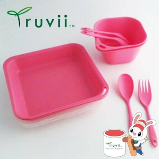 圖片 Truvii 櫻花粉抗菌餐具組( 附網袋 )