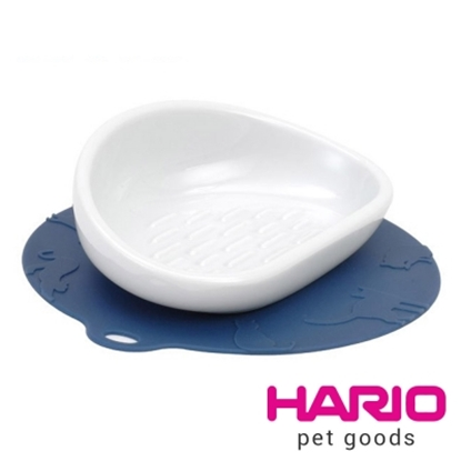 圖片 【HARIO】長毛貓專用藍色陶瓷大碗  PTS-NYL-DBU