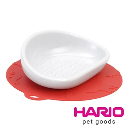 圖片 【HARIO】長毛貓專用紅色陶瓷大碗  PTS-NYL-R