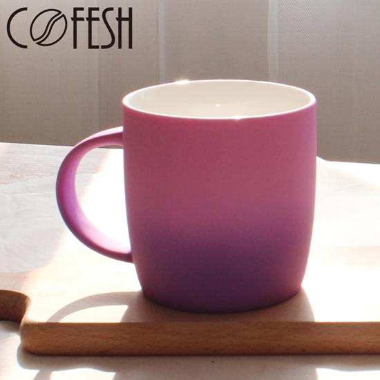 圖片 COFESH 時尚半手作粉紫雙色漸層馬克杯350ml MUG-35-PP