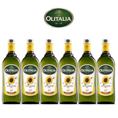 圖片 【Olitalia奧利塔】葵花油禮盒組(1000mlx6瓶)