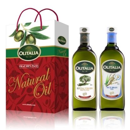 圖片 【Olitalia奧利塔】特級初榨冷壓橄欖油+玄米油禮盒組(1000mlx2瓶)