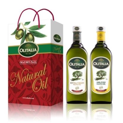 圖片 【Olitalia奧利塔】特級初榨冷壓橄欖油+純橄欖油禮盒組(1000mlx2瓶)