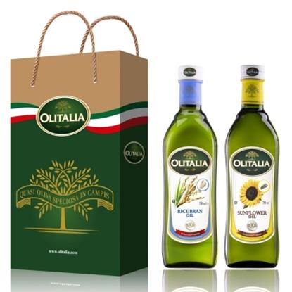 圖片 【Olitalia奧利塔】玄米油+葵花油禮盒組(750mlx2瓶)