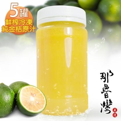 圖片 【那魯灣】鮮榨冷凍純金桔原汁  5罐(230G/罐)