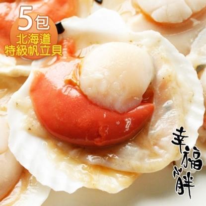 圖片 【幸福小胖】北海道特級帆立貝  5包(500克/6~8顆/包)