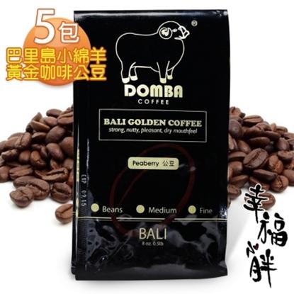 圖片 【幸福小胖】巴里島小綿羊黃金咖啡公豆 5包 (半磅/包)