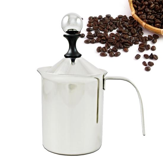 圖片 【三零四嚴選】#304不鏽鋼咖啡雙層奶泡杯 1入 (400ML/個)