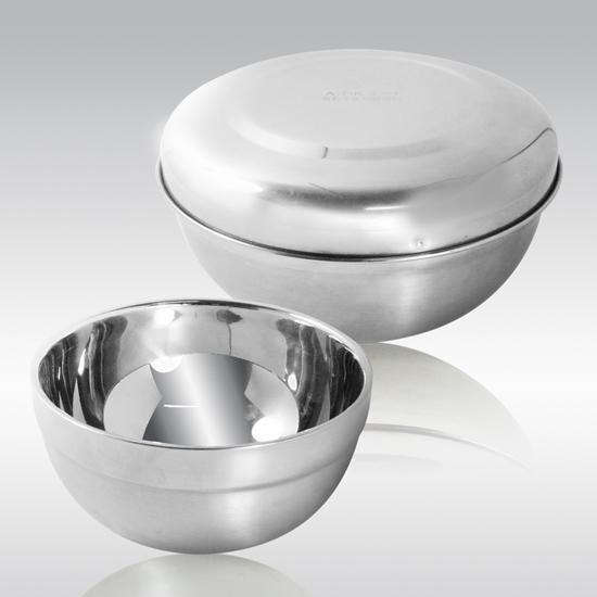 圖片 【三零四嚴選】304不鏽鋼雙層隔熱碗學生攜帶組(15cm附碗蓋/12cm不含蓋)