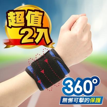 圖片 【JS嚴選】台灣製蜂巢式高機能雙包覆護手腕(2入)