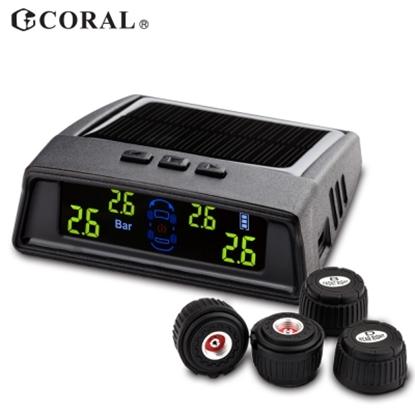 CORAL TPMS-406DIY外置式 太陽能無線胎壓偵測器