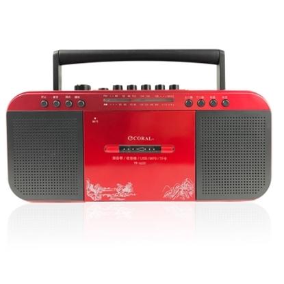 圖片 CORAL TR6600 復古造型 多功能整合 手提卡帶收錄音機
