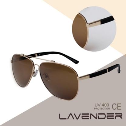 圖片 LAVENDER 記憶合金偏光太陽眼鏡 P8567C3 金色