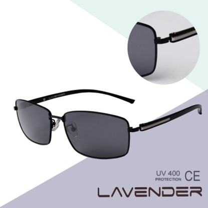 圖片 LAVENDER 記憶合金偏光太陽眼鏡 P8566C2 黑