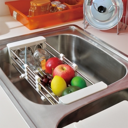 圖片 【ikloo宜酷屋】不鏽鋼廚房砧板瀝水架