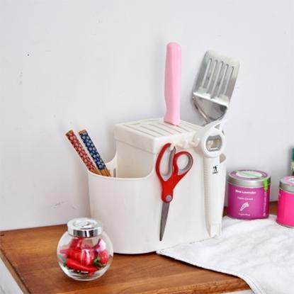 圖片 【ikloo宜酷屋】廚房必備刀筷收納架
