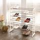 【H&R安室家】極簡實用層疊鞋架-SHF25