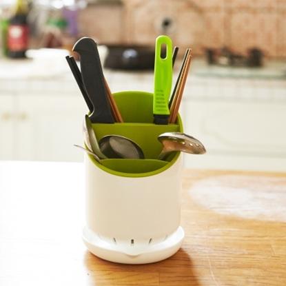 圖片 【H&R安室家】可拆卸式筷叉收納瀝水筒(兩色)-BNF44