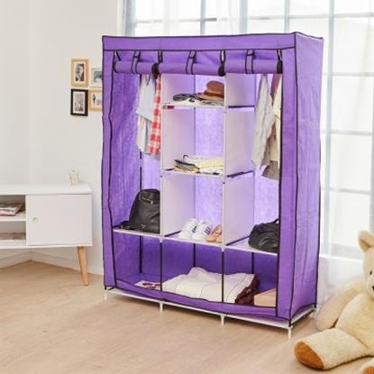 圖片 【H&R安室家】加大三排8格防塵收納衣櫃-LSF51