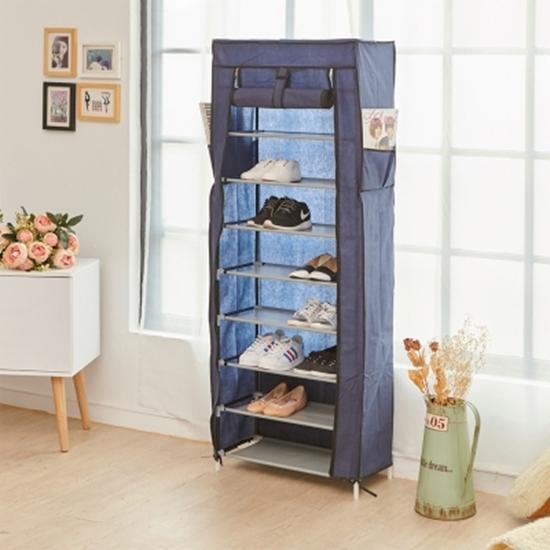圖片 【H&R安室家】大容量9層輕鬆組布套鞋架-SHF28