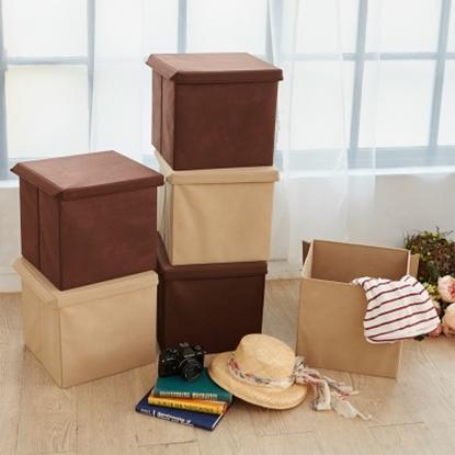 圖片 【H&R安室家】可折疊不織布收納箱/收納盒(3入組)-BNF54