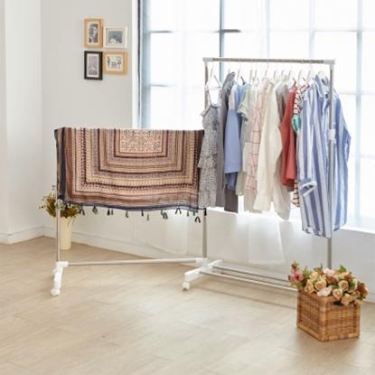 圖片 【H&R安室家】不鏽鋼可收合衣桿/曬衣架-HGF39