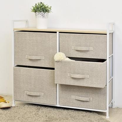 圖片 【H&R安室家】日系上木板五抽斗櫃/收納櫃-BNF28