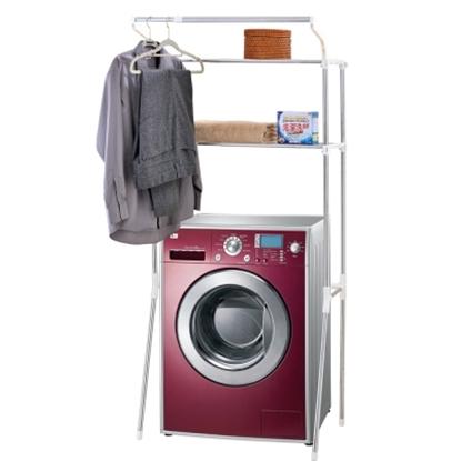 【H&R安室家】不鏽鋼伸縮式洗衣機置物架-BCF14