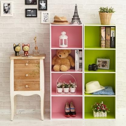 圖片 【H&R安室家】玩色木質四層櫃/書櫃-BCF33