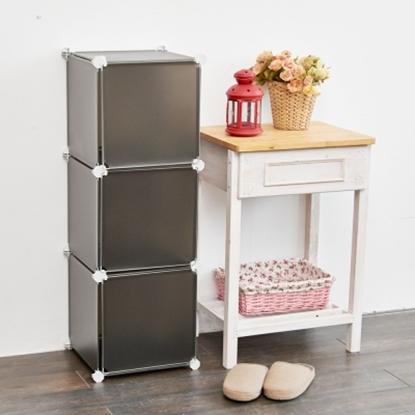 圖片 【H&R安室家】3格3門收納櫃-12吋百變收納櫃/組合櫃-HP59F