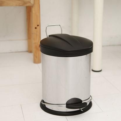 圖片 【H&R安室家】不鏽鋼腳踏垃圾桶-12L(台灣製造)-PB03D