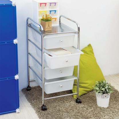 圖片 【H&R安室家】可移式四層白色抽屜收納箱/收納盒-G193