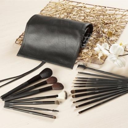 圖片 GALATEA葛拉蒂鑽顏系列- 長柄黑原木18支裝專業刷具組