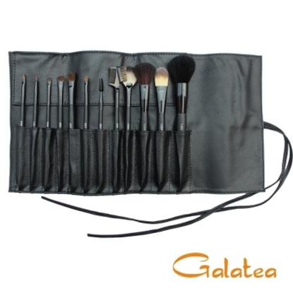 圖片 GALATEA葛拉蒂鑽顏系列- 長柄黑原木12支裝專業刷具組