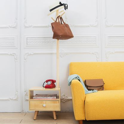圖片 【H&R安室家】北歐風附掛衣式邊桌/床頭櫃-LSF55